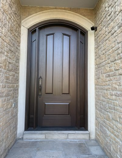 Single Exterior Door with Rounded Top