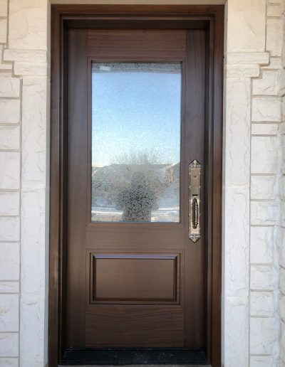 Mahogany Front Door with Glass Insert