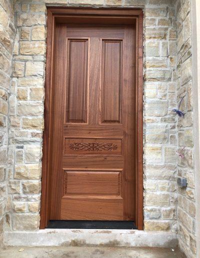 Light Mahogany Exterior Door