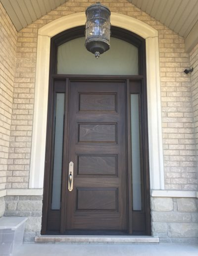 Solid Wood Exterior Door with Traditional Handle
