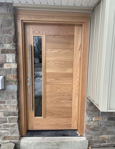 Natural Oak Exterior Door