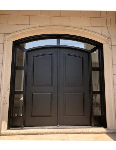 traditional Black Wood Exterior Double Door
