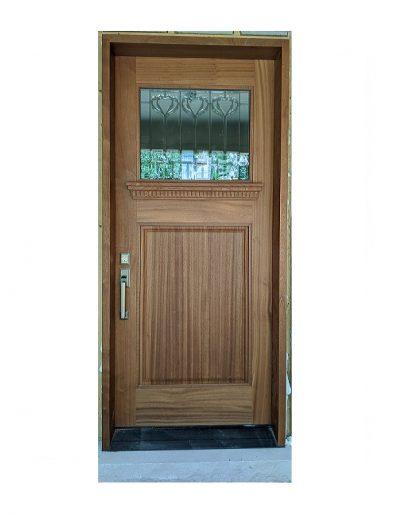 classic light brown wood door