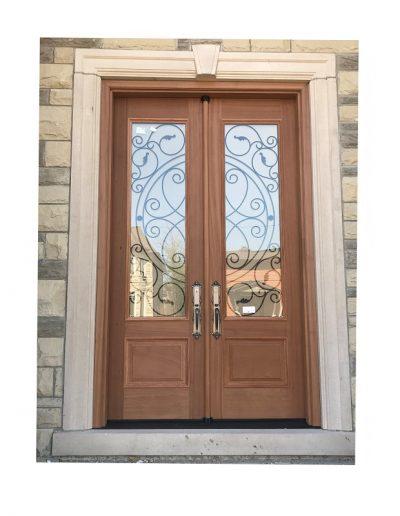 classic raw Wood double Exterior Door