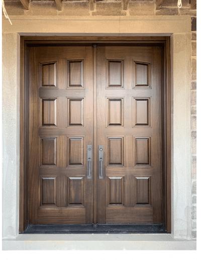 classic medium brown Wood double Exterior Door